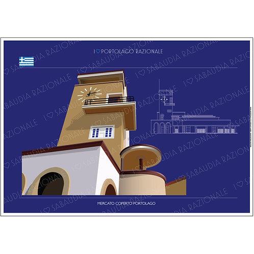 Mercato Coperto Portolago A3 - Sabaudia razionale - Galleria Papier