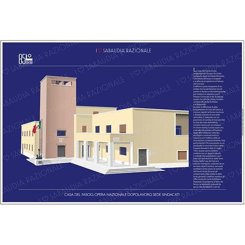 Manifesto della Casa del Fascio di Sabaudia - Galleria Papier - Sabaudia Razionale