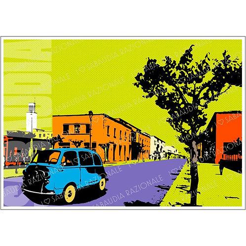 Sabaudia Frame 8 anni '50/'60 Manifesto A3 - Galleria Papier - Sabaudia Razionale