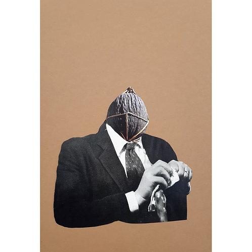 Alfonso Marino -  O melone, Colpi di Testa - Collage -  Exclusive Galleria d'arte Papier