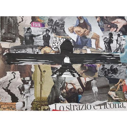 Alfonso Marino - Lo strazio e l'icona, Letture - Collage -  Exclusive Galleria d'arte Papier