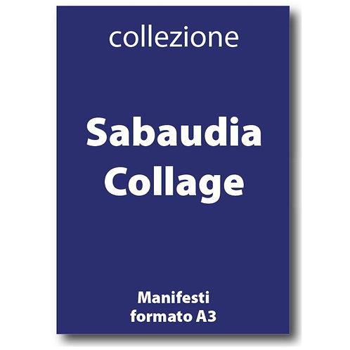 Serie completa dei Manifesti in formato A3 di Sabaudia Collage di I Love Sabaudia Razionale - Galleria Papier