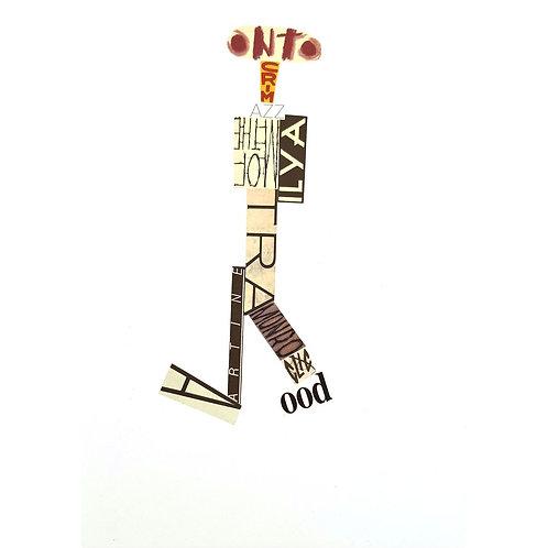 Alfonso Marino - AZZ, Scritture Robot - Collage -  Exclusive Galleria d'arte Papier