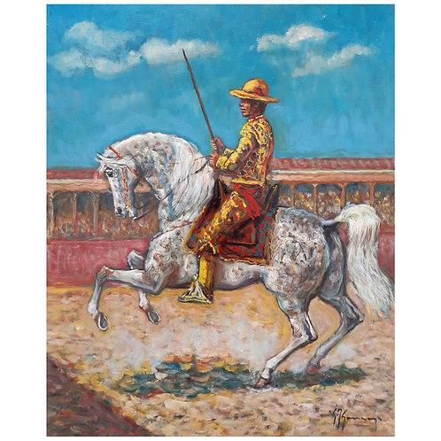 Giovan Francesco Gonzaga - Il Picador 1999, olio su tela - Galleria Papier