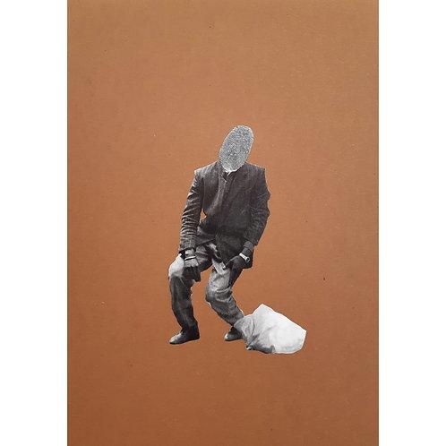 Alfonso Marino -  Impronte, Colpi di Testa - Collage -  Exclusive Galleria d'arte Papier
