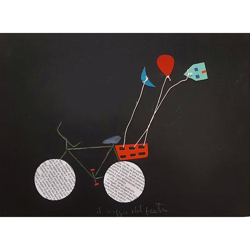 Alfonso Marino - La bicicletta di Mario n°2 - Il viaggio del poeta - Exclusive Galleria d'arte Papier