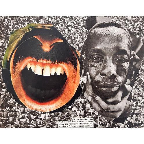 Alfonso Marino - Odio, Letture - Collage -  Exclusive Galleria d'arte Papier
