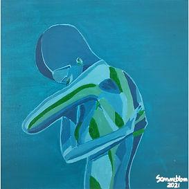 Blu - Acrilico su tela - Laura Zampieri
