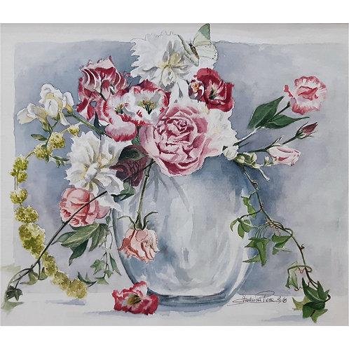 Federica Peco - Vaso di fiori - Acquerello - Exclusive Galleria Papier