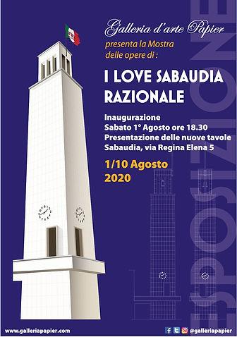 I Love Sabaudia Razionale: mostra delle opere di Roberto Carfagna   Galleria d'arte Papier
