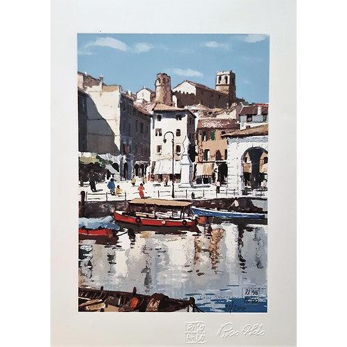 Aldo Riso - Presso Desenzano - Litografia - Galleria Papier