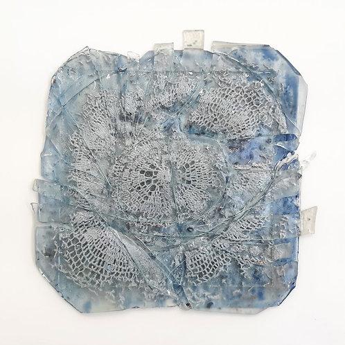 Paola Abbondi - Trasparente n°4 - Pizzo cotto tra due vetri - Exclusive Galleria d'arte Papier