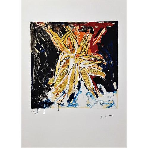 Mario Schifano - Pannocchie 1995 - Galleria Papier