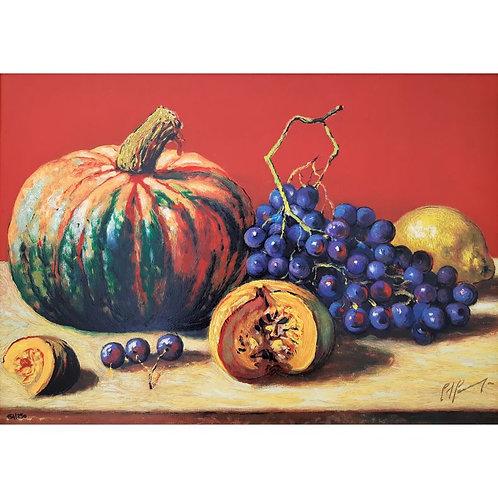 Giovan Francesco Gonzaga - Frutti in un interno rosso pompeiano 2004 - Galleria Papier