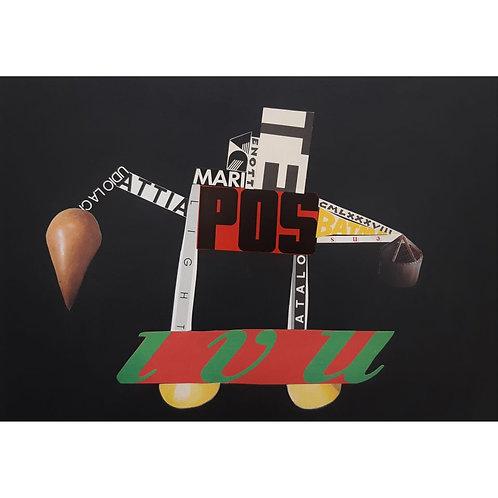 Alfonso Marino - Carro pos, Scritture Carri - Collage -  Exclusive Galleria d'arte Papier