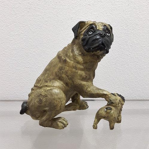 Carlino in bronzo e smalti Galleria Papier