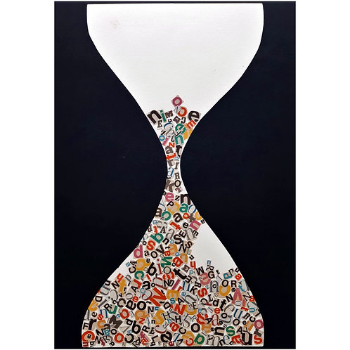 Alfonso Marino -  Clessidra, Alfabeti - Collage -  Exclusive Galleria d'arte Papier