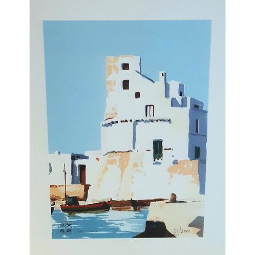 Aldo Riso - Presso Leuca - Litografia, Galleria d'arte Papier