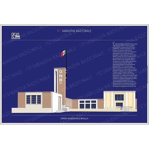 Manifesto dell'Opera Nazionale Balilla - Sabaudia Razionale - Exclusive Galleria Papier