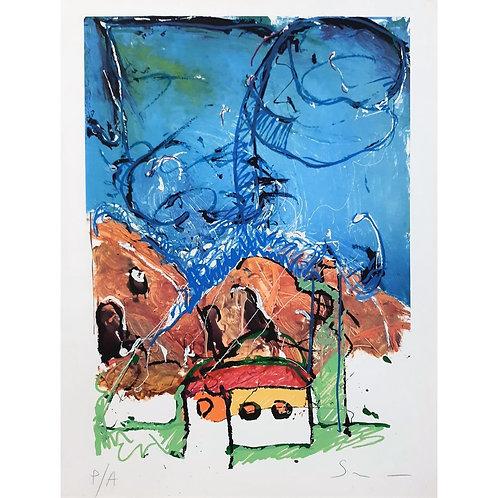 Mario Schifano - Casa 1985 - Galleria Papier