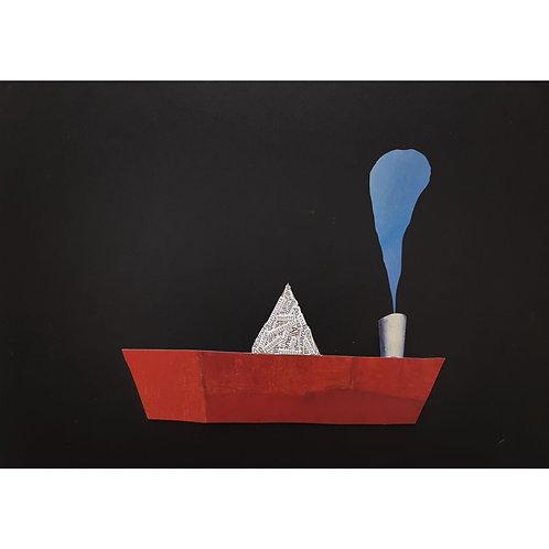 Alfonso Marino - Barchetta n°2 - Il viaggio del poeta - Exclusive Galleria d'arte Papier