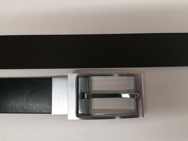 Cintura PORSCHE DESIGN cod. 4090003535 in pelle nera e fibia in acciaio