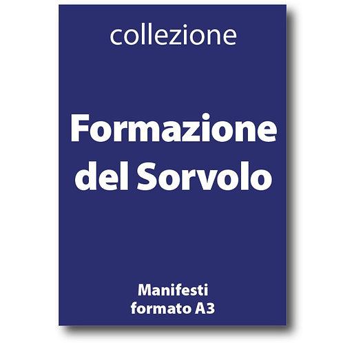 Serie della Formazione del Sorvolo Velivolo Ansaldo di I Love Sabaudia razionale - Galleria Papier