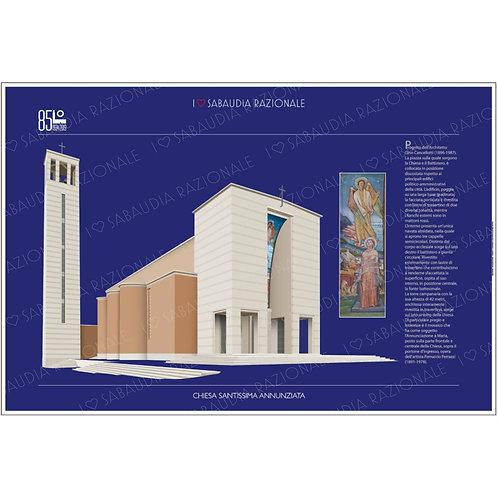 Manifesto Chiesa della Santissima Annunziata - Sabaudia Razionale - Galleria Papier
