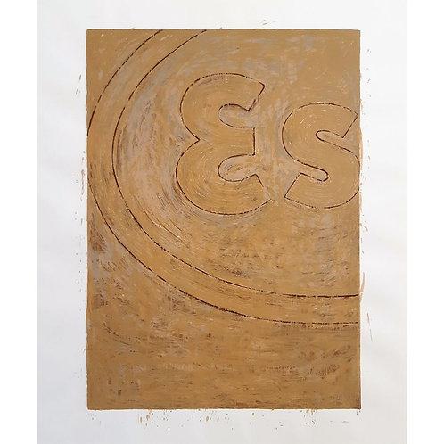 Mario Schifano - Propaganda (particolare) Esso - Galleria Papier
