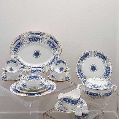 Servizio piatti in porcellana Coalport 1950 Galleria Papier