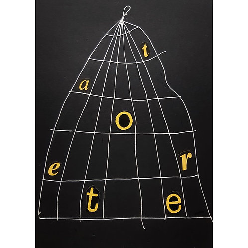 Alfonso Marino -  In Gabbia, Alfabeti - Collage -  Exclusive Galleria d'arte Papier