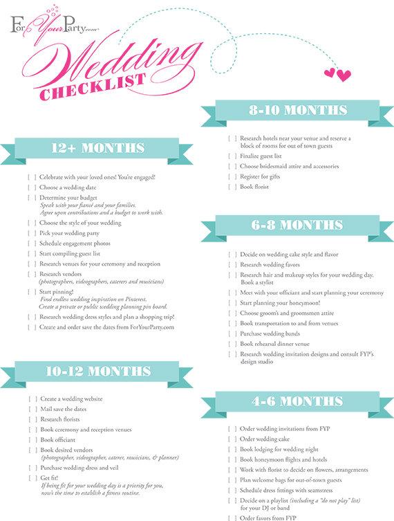The Essential Wedding Checklist