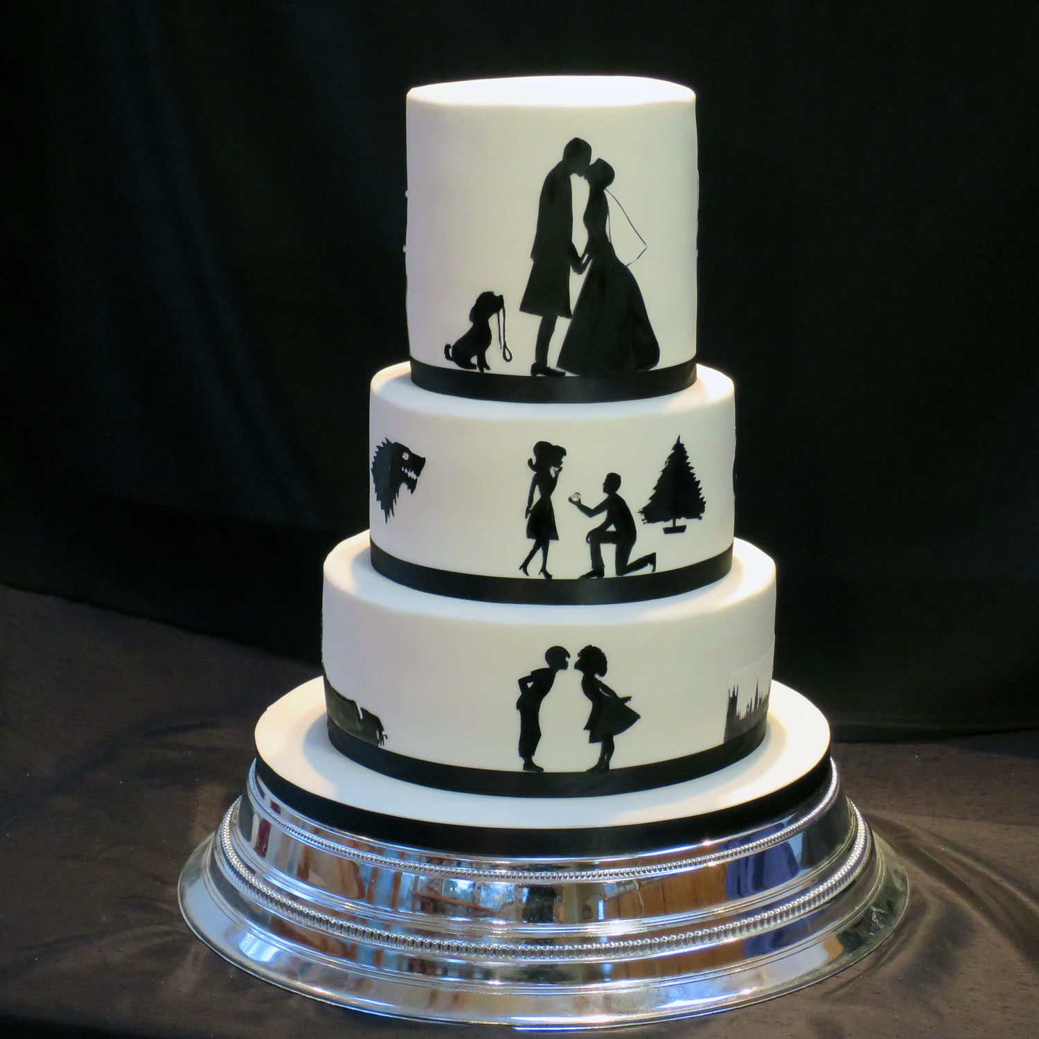 stenciled wedding cake design wedding cake trends for 2018 birmingham event planners 20521