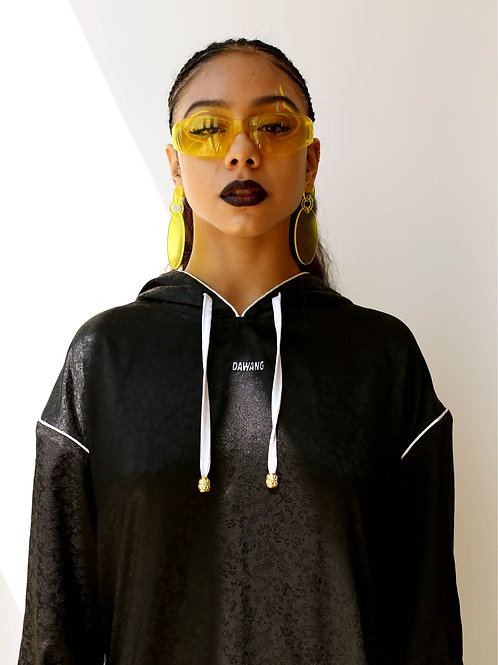 DAWANG Oversized Logo Sweatshirt Dress