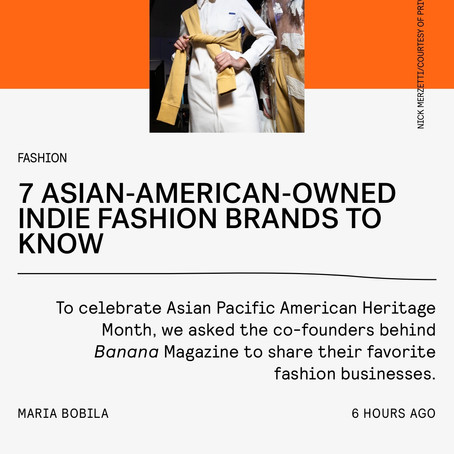 Nylon: 7 Asian-American-Owned Indie Fashion Brands to Know