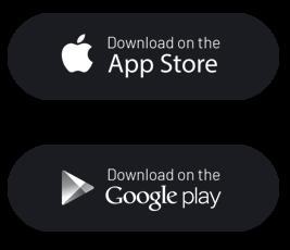 Ícones App Store e Google Play