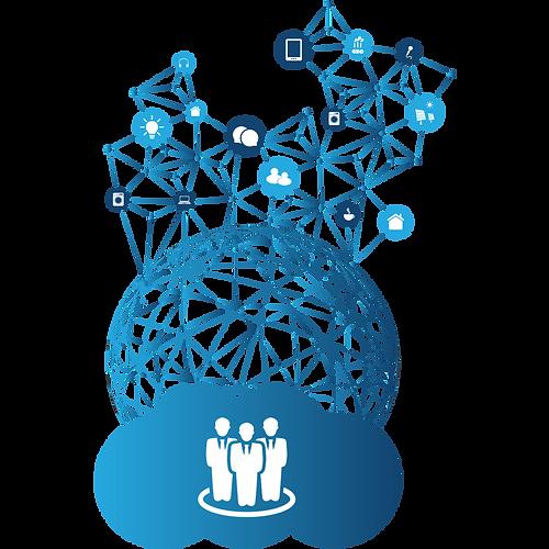 Ilustração de redes corporativas