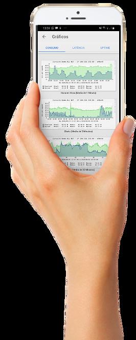 Ilustração mobile do sitema de gestão de Link Dedicado ALLnet