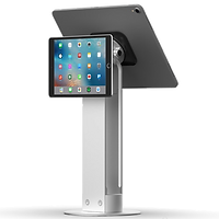 Dual facing iPad stand with universal mount, tall stand, elevated POS system stand