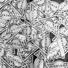 Moniker Skull Stickers