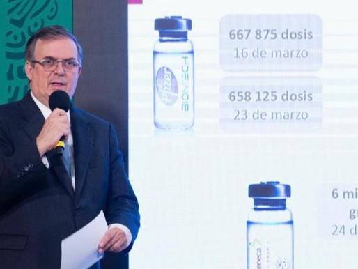 """Negociación con Estados Unidos por vacunas va """"muy bien"""": Marcelo Ebrard"""