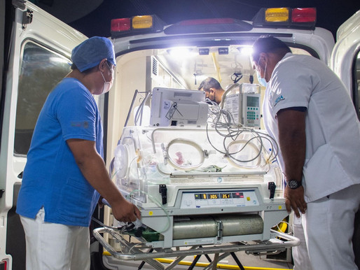Bebe Lesionado en Hospital Materno, se Encuentra en Cirugía en Mérida, para Salvarle la Vida