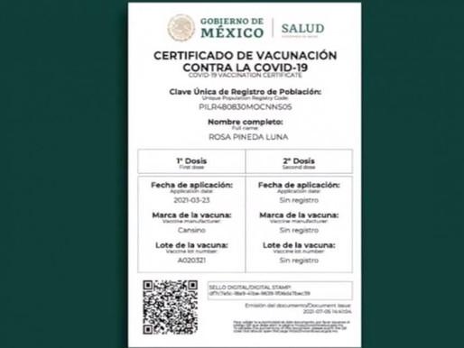 Ya Recibiste tu Vacuna Covid, Solicita tu Certificado de Vacunación