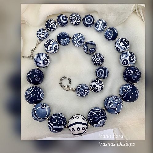 Shibori Bead Necklace