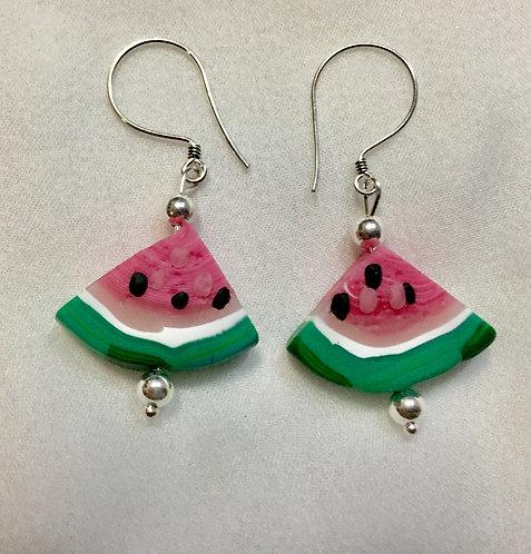 Quarter Watermelon Earrings