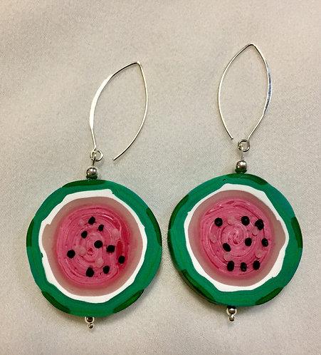 Full watermelon Earrings