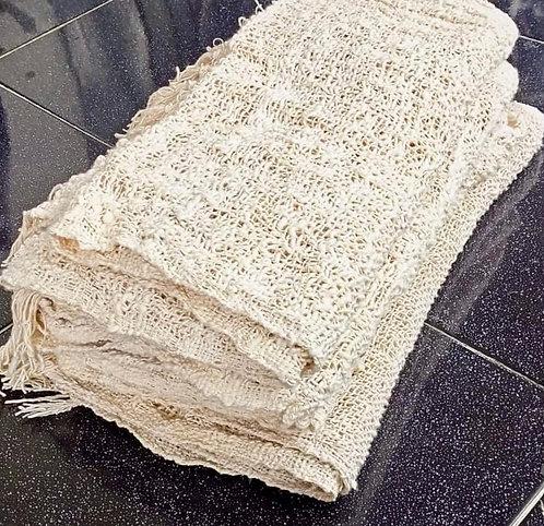 Natural white cotton scarf