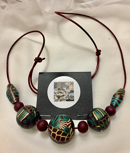 Shiraz colours!  Adjustable necklace