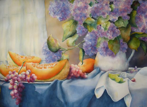 Hydrangeas & Melons