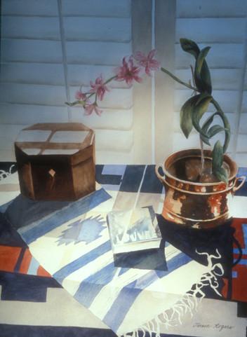 Orchid in Copper Pot